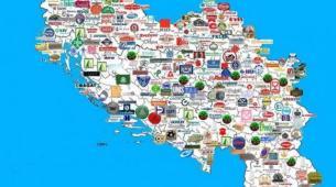 FOTO: Mapa sa BRENDOVIMA i FIRMAMA: Pogledajte šta se sve proizvodilo u bivšoj SFRJ!