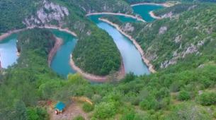 Meandri Ćehotine uklesani u stijene brda: Jedno od čuda Crne Gore