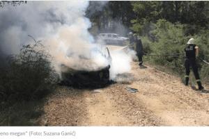 Policija pronašla pištolj i snajper u zapaljenom vozilu u Ulcinju