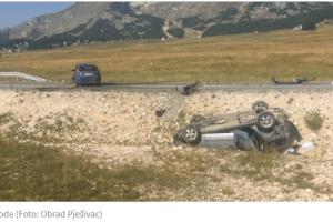 Težak udes na putu Žabljak – Šavnik, povrijeđeno pet osoba