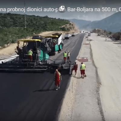 Bemax postavio prve metre asfalta na auto-putu Bar-Boljare