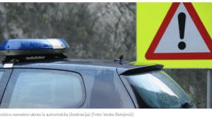 Beranac pokrao povrijeđenog policajca nakon udesa?