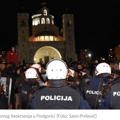 Podgorica: Policija privela 45 osoba zbog incidenata koji su se dešavali prethodne dvije noći