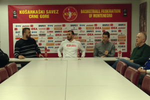 Nikola Peković – tim menadžer, Blagota Sekulić – trener košarkaške reprezentacije Crne Gore
