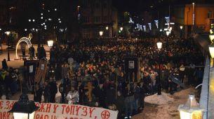 Večeras održana 13. litija ulicama Pljevalja