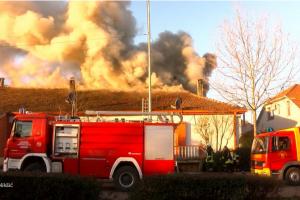 Izgorjelo potkrovlje kuće u Nikšiću: Pas upozorio komšije i spriječio katastrofu