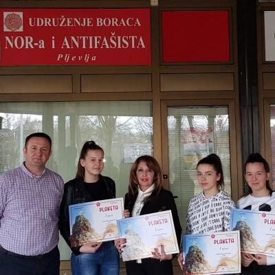 """Uručene nagrade učesnicima kviza """"Crna Gora i njena sloboda"""""""