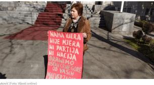 Savković pozvala na protest: Da nije majki ne bi bilo ni vjernika, ni svetinja…