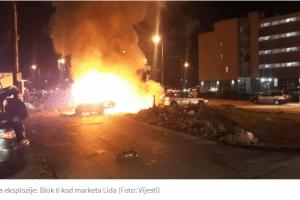 DALMATINSKA ULICA U PODGORICI – Bomba aktivirana ispod auta: Božović poginuo, Keković teško povrijeđen