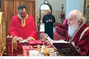 Irinej održao liturgiju bez prisustva vjernika