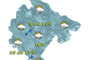 Sjutra kiša, zahlađenje, na sjeveru susnježica