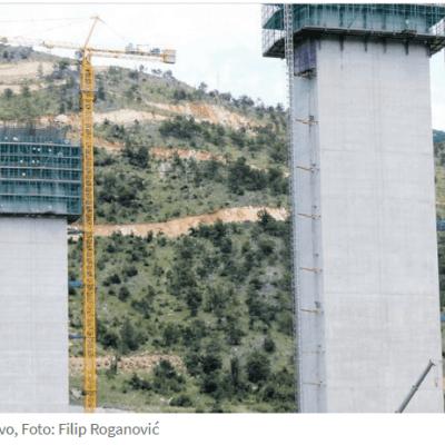 REALIZUJU DIONICU AUTOPUTA OD SMOKOVCA DO MATEŠEVA –  Čarter sa 95 radnika CRBC-a stigao u Crnu Goru