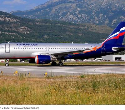 Aeroflot otkazao sve letove za Tivat u 2020., ruska vlada ne da ni drugim njihovim kompanijama da lete za CG