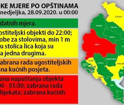 Od danas nove mjere u više opština