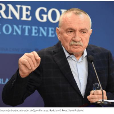 Radulović: Nećemo biti taster poslanici