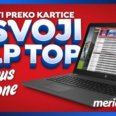 SENZACIONALNI pokloni u sportskoj kladionici Meridian – Lap Top i oko 200€ bonus novca