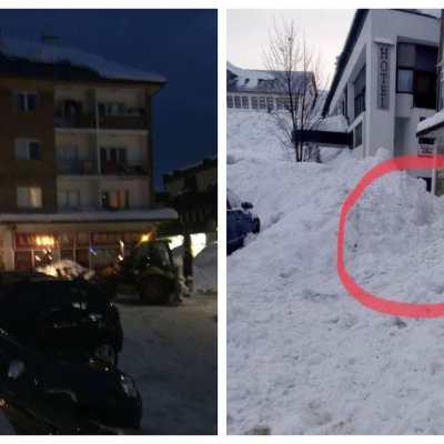 Snijeg sa krova zgrade na Žabljaku pao i zatrpao ženu i dijete, građani ih spasili