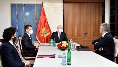 Krivokapić sa Đukanovićem, Bečićem i Abazovićem: Bez razvoja institucija nema demokratskog i ekonomskog napretka zemlje