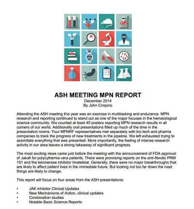 ASH 2014 MPN report