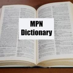 MPN dictionary of cancer terms