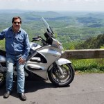 PV Reporter riding the Blue Ridge Pkwy, 10 years with PV