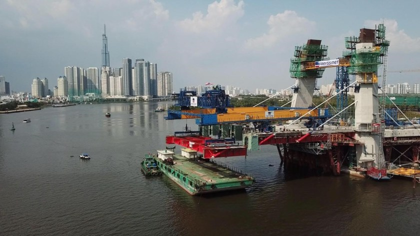 The Segment is delivered to Ho Chi Minh City for installation
