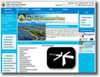 Snapshot of Cebu City Government Official Website in shadow background