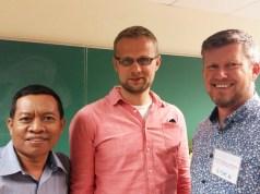 Biyanto bersama peserta Summer Institute 2016 dari Polandia dan Newzeland (foto Biyanto)