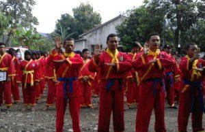 Ujian kenaikan tingkat Tapak Suci Pimda Kabupaten Malang. (Foto: Izzudin)
