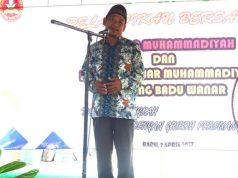 Fathurrahim Syuhadi saat pelantikan IPM dan Pemuda Muhammadiyah