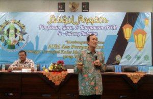 Nadjib Hamid saat mengisi materi Baitul Arqam PCM Bubutan