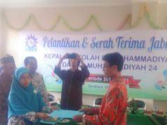 Serah terima jabatan kepala SD Muhammadiyah 24 Surabaya