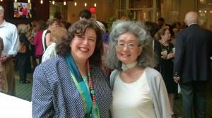 Susan Issacs with Yasuko Yamaguchi of Silver Sponsor Seyak Corporation/Yamaguchi Restaurant.