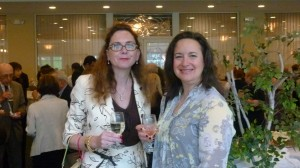 Nathalie Aujard-Pearson and Beth Horn, a Silver Sponsor together with her husband David.