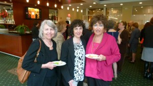 Former FOL Board member Susan Kass (center) and friends.