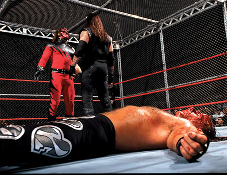 Image result for Hell in a Cell Shawn Michaels vs The Undertaker