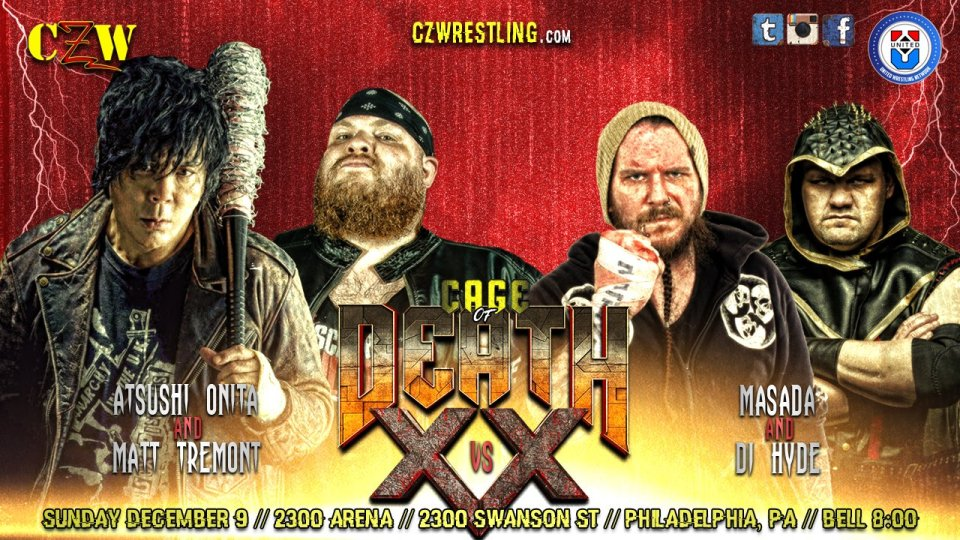 CZW 12/09/18 Cage of Death XX Results - PWPonderings