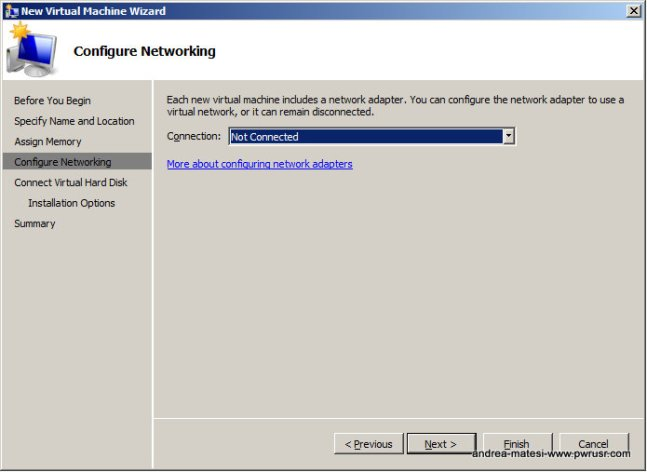 Select a network adapter on your lan capable of going online (ie.External Virtual Network).