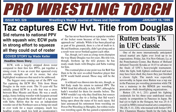 VIP 1999 BACK ISSUE – Pro Wrestling Torch #529 (January 16