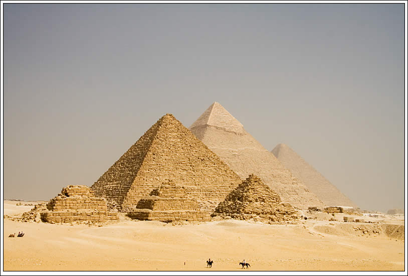 The Pyramids of Giza in Egypt