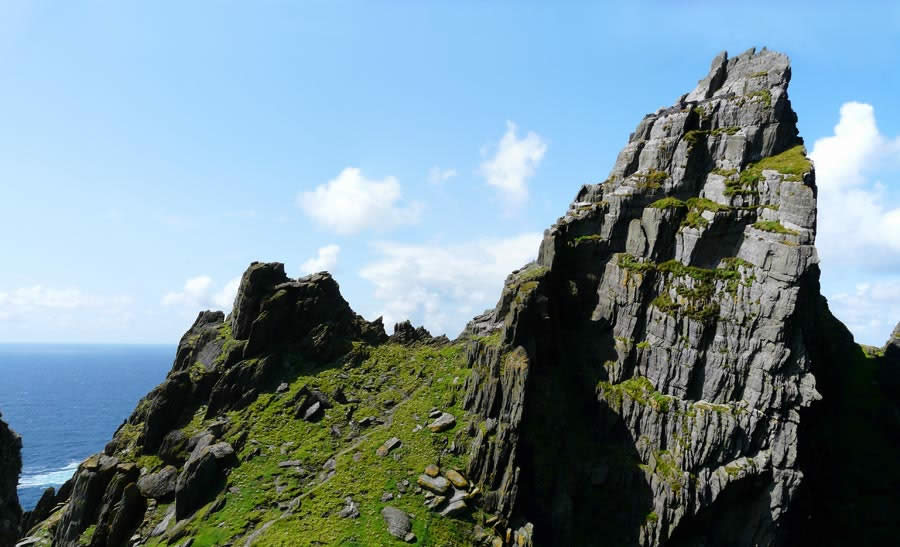 Sceilig Mhichil near the coast of Ireland