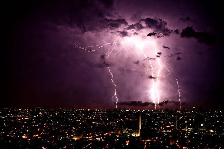 Lightning over Manila, Philippines