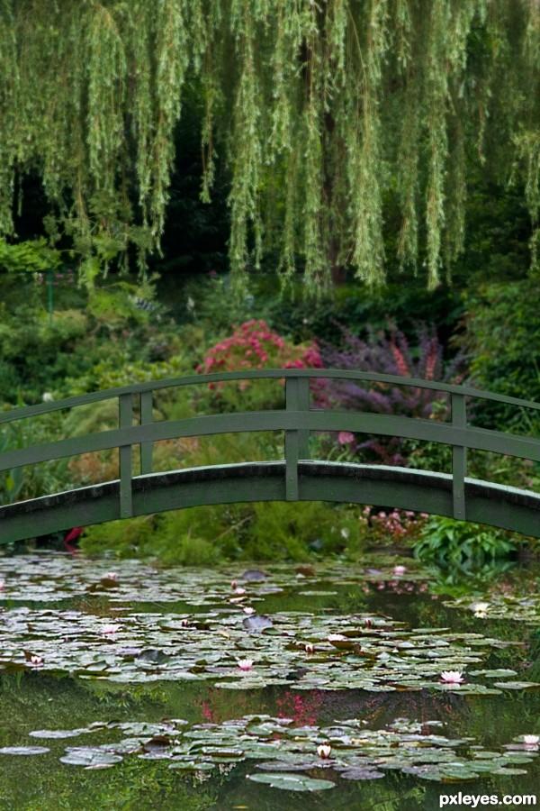 Monet Paintings Bridge Over Water Lilies - Defendbigbird.com
