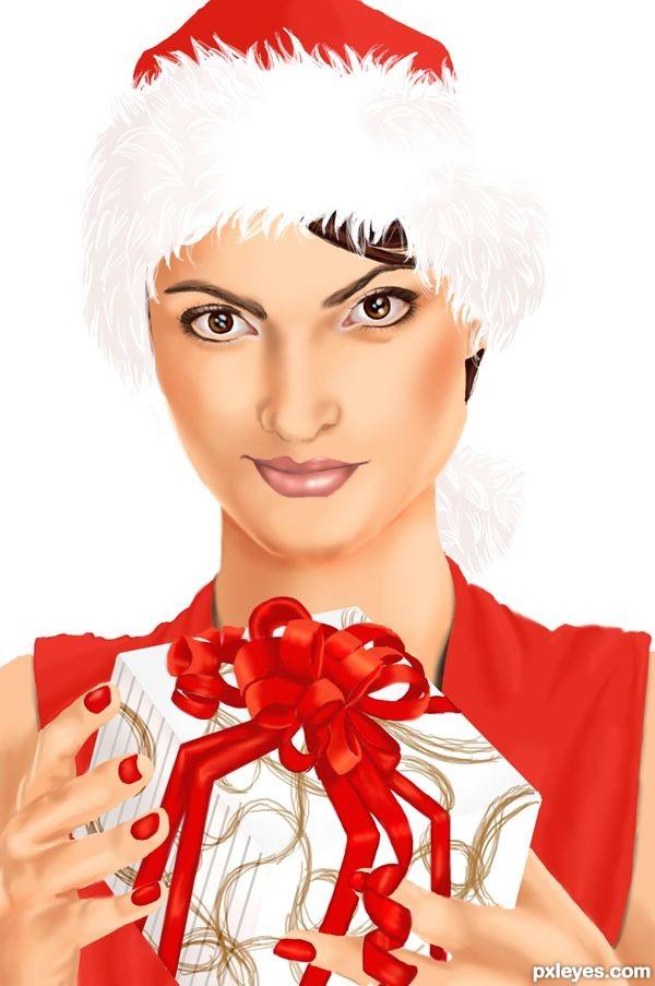 Create a Christmas Holiday Portrait Final Image