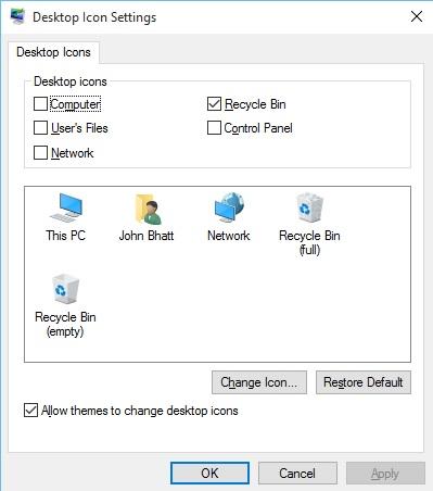 ChooseDesktopIconsInWindows10