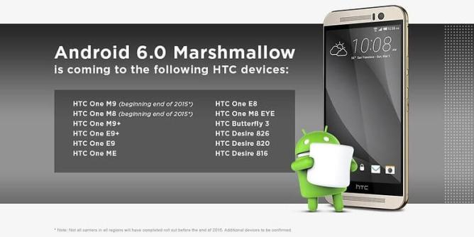 HTC Android M Update