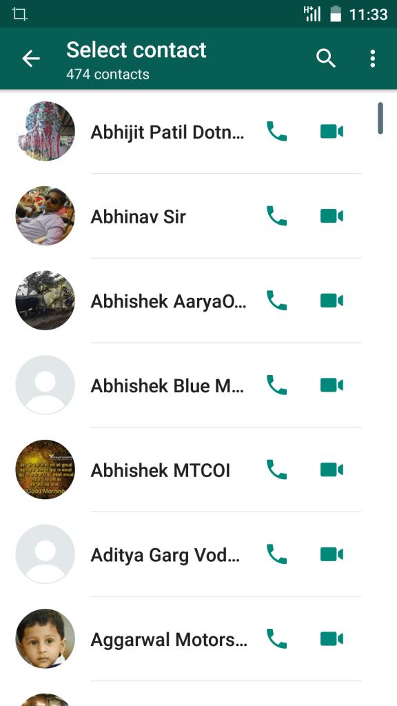 WhatsApp Video Call Feature