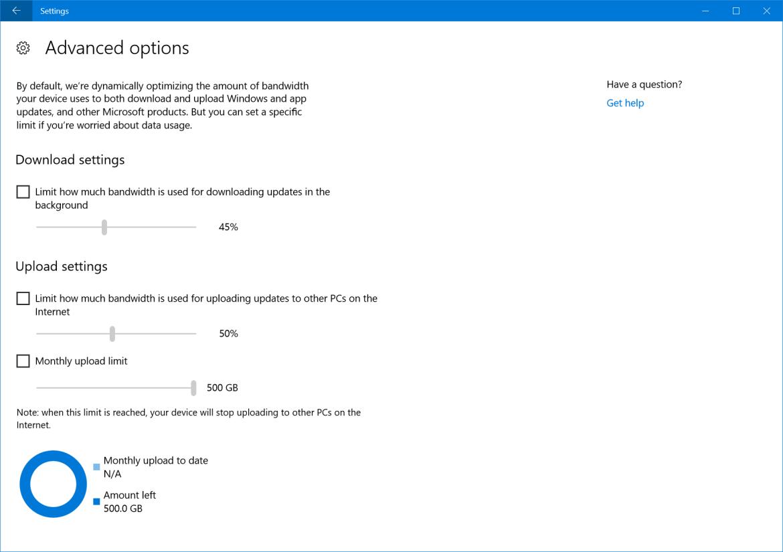 Windows 10 Build 16241 Delivery Optimization