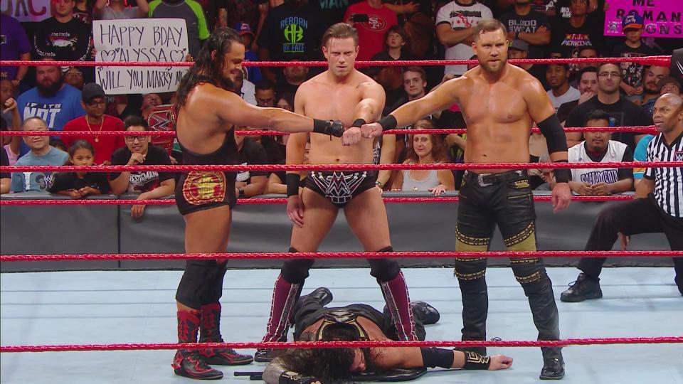 Miz and Miztourage poses as Shield on RAW Episode 1270