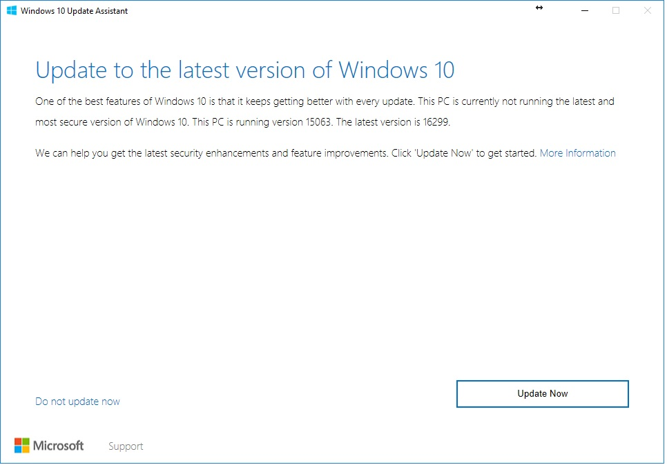 Windows 10 Fall Creators Update Download